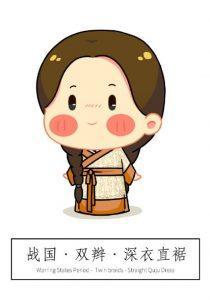 【汉服发型】Q版:秦汉至明朝时期,汉服发型与汉服款式搭配