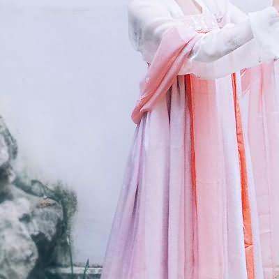 【对襟襦裙】梨花渡原创汉服女 齐胸对襟襦裙日常春夏套装