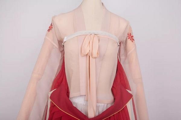 齐胸襦裙防掉带用法