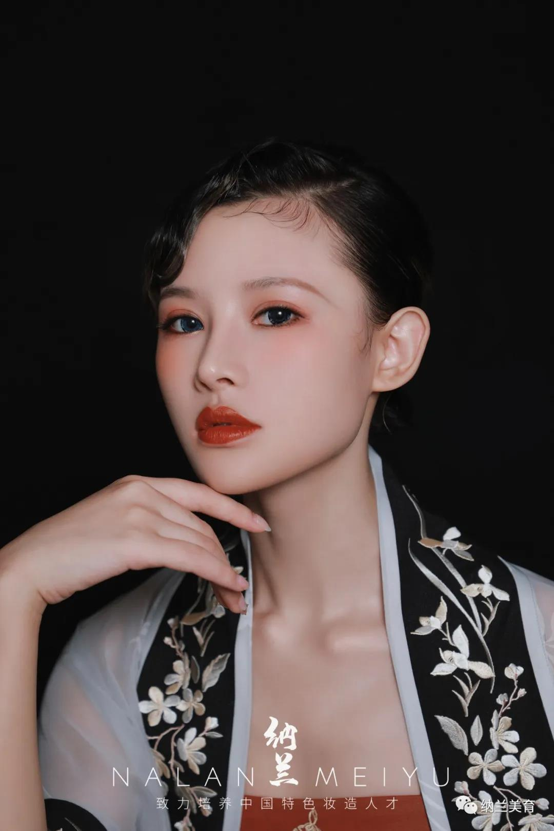 【汉服妆容】短发汉服妆容,汉服造型图片欣赏