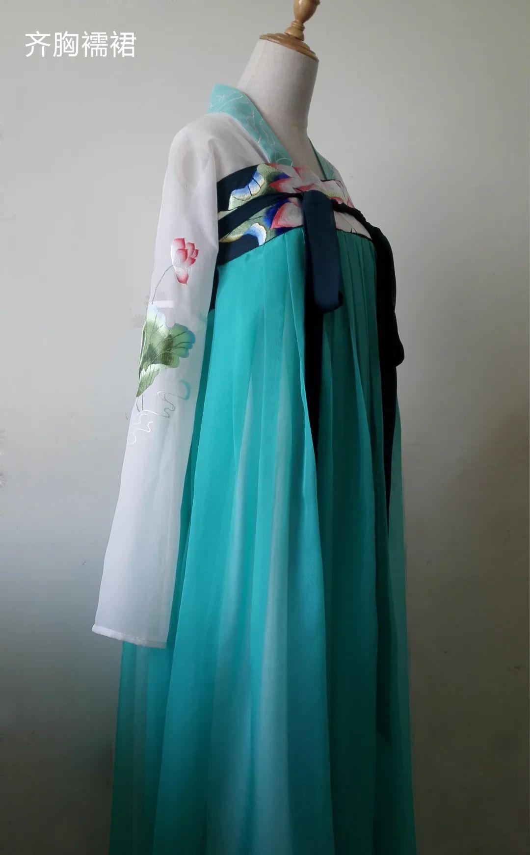 汉服制作教程   齐胸襦裙汉服三件套裁剪打板缝纫课程